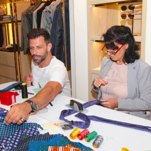 2. Henri Castelli meets tie maker from Napoli at Kiton Bal Harbour.
