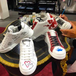 7. Dolce _ Gabbana Bal Harbour #DoItYourself Sneaker Personalization.